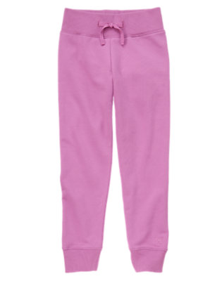 Girls Orchid Ribbed Waist Lounge Pant by Gymboree