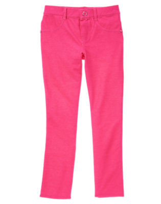 Girls Brilliant Rose Colored Jeggings by Gymboree