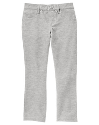 Girls Heather Grey Colored Jeggings by Gymboree