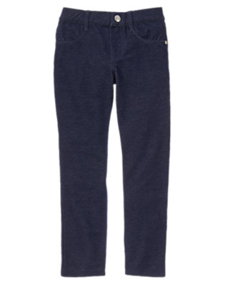 Girls Gym Navy Colored Jeggings by Gymboree