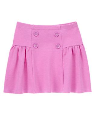 Girls Posh Purple Button Skirt by Gymboree