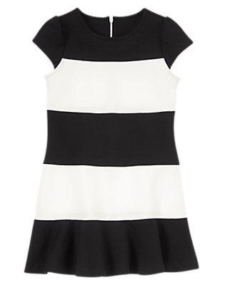 Girls Black Stripe Striped Dress by Gymboree