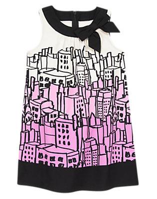 Girls Posh Purple City Ombre Dress by Gymboree