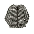 Textured Knit Peplum Jacket