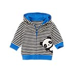Striped Panda Zip Cardigan