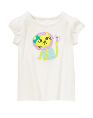 Toddler Girls White Lion Tee by Gymboree