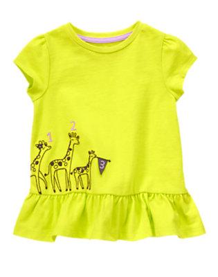 Toddler Girls Limeade Counting Giraffes Peplum Top by Gymboree