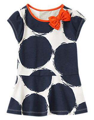 Girls Gym Navy Sketched Bubble Top by Gymboree