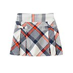 Pleated Plaid Skort