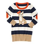 French Bulldog Sweater Dress
