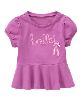 Toddler Girls Orchid Ballet Shoes Peplum Top by Gymboree