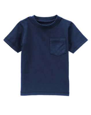 Toddler Boys Dusky Blue Pocket Tee by Gymboree