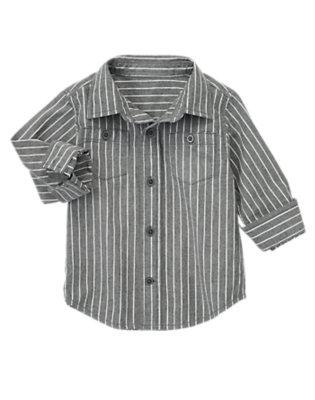 Toddler Boys Denim Striped Denim Shirt by Gymboree
