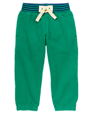 Toddler Boys Monster Green Pull-On Fleece Pants by Gymboree