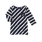 Striped Anchor Pocket Tee