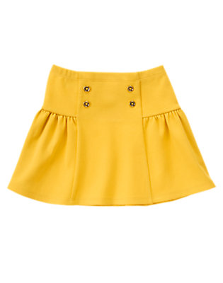 Girls Goldenrod Sailor Button Skirt by Gymboree