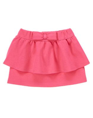 Toddler Girls Pink Poodle Peplum Skirt by Gymboree