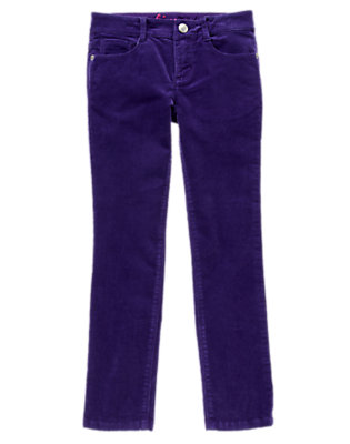 Girls Enchanted Violet Skinny Corduroy Pants by Gymboree