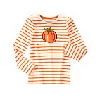 Striped Shimmer Pumpkin Tee