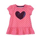 Sequin Heart Polka Dot Top