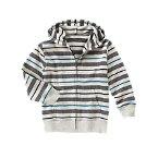 Striped Zip Hoodie