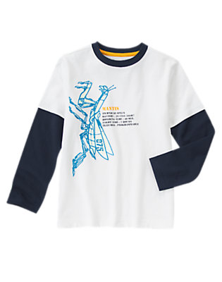 Boys White Robo-Mantis Tee by Gymboree