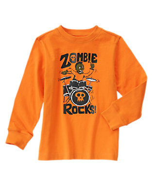 Boys Pumpkin Zombie Rocks Long Sleeve Tee by Gymboree