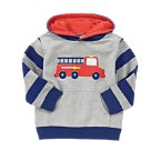 Hooded Fire Truck Pullover