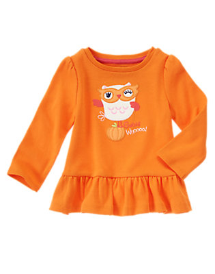 Toddler Girls Pumpkin Guess Whoooo Tee by Gymboree