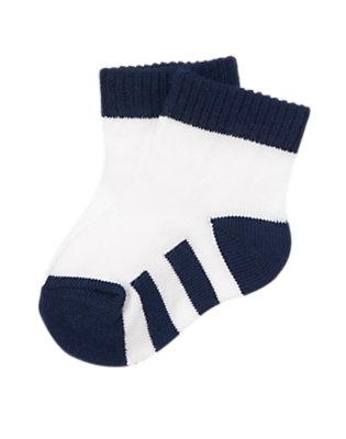 Baby White Striped Socks by Gymboree