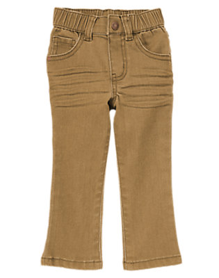 Toddler Boys Khaki Skinny Twill Pants by Gymboree