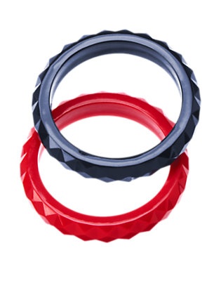 Girls Red Beret Faceted Bangles Two-Pack by Gymboree