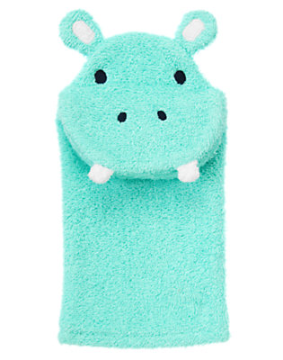 Baby Aqua Hippo Terry Puppet by Gymboree