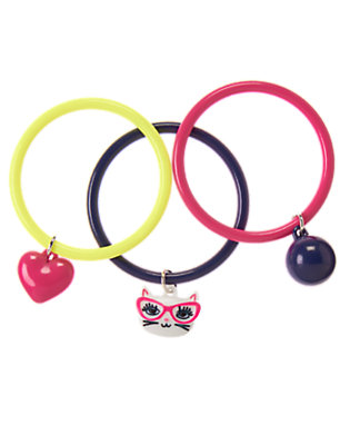 Girls Brilliant Rose Charm Bangles Three-Pack by Gymboree