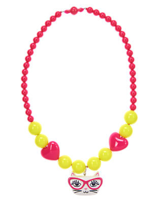 Girls Brilliant Rose Cat Necklace by Gymboree