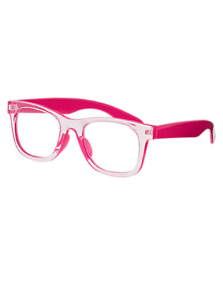 Girls Brilliant Rose Clear Pink Glasses by Gymboree