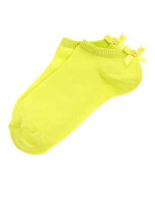Girls Atomic Lime Bow Ankle Socks by Gymboree