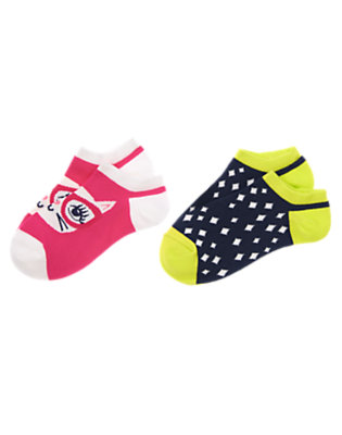 Girls Brilliant Rose Cat Ankle Socks Two-Pack by Gymboree