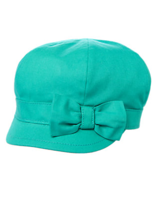 Toddler Girls Turquoise Cadet Hat by Gymboree