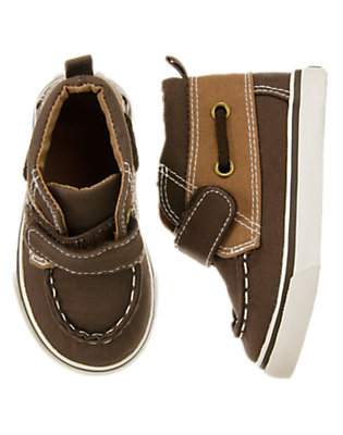 Toddler Boys Trailblazer Brown Canvas Boat Shoes by Gymboree