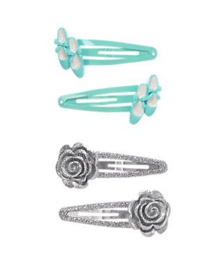 Girls Sweet Mint Ballet Clips Four-Pack by Gymboree