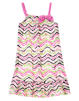 Girls Passion Fruit Pink Zebra Print Pajama Gown by Gymboree