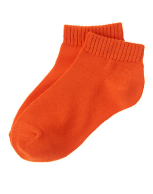 Boys Afterburner Orange Ankle Socks by Gymboree