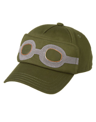 Toddler Boys Flight Suit Green Flight Goggles Cap by Gymboree