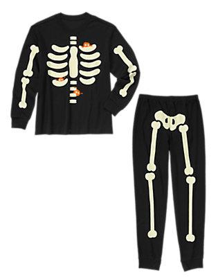 Toddler Boys Black Dad Lil' Creatures Skeleton Two-Piece Pajamas by Gymboree