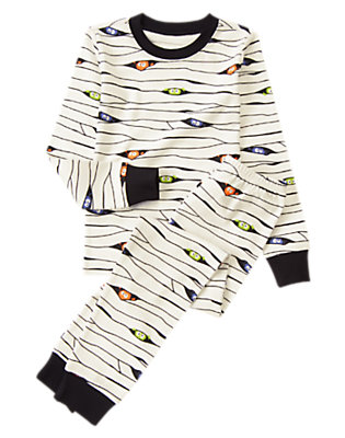 Toddler Boys White Lil' Creatures Mummy Two-Piece Gymmies® by Gymboree