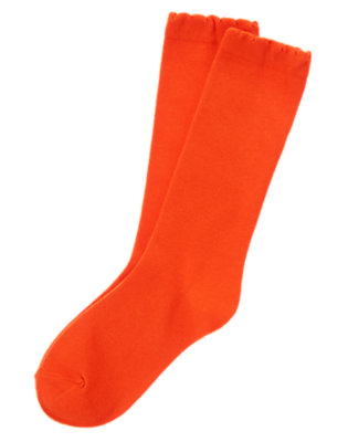 Girls Red Orange Colorful Knee Socks by Gymboree