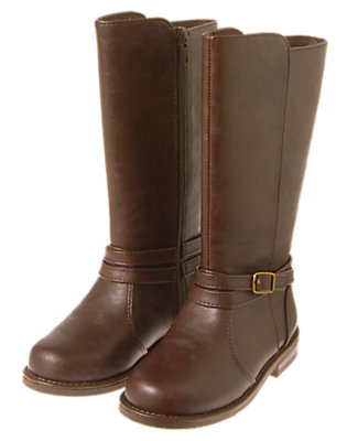 Girls Saddle Brown Riding Boots by Gymboree