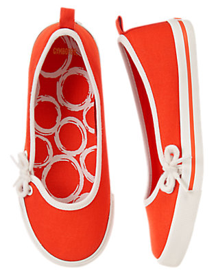 Girls Red Orange Side Lace Skimmers by Gymboree