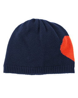 Colorblocked Heart Beanie